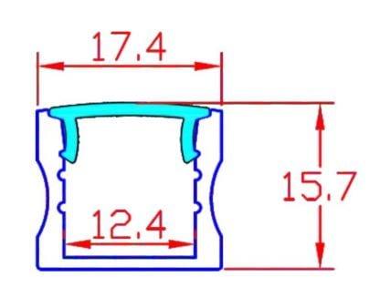 mittakuva, alumiiniprofiili korkea